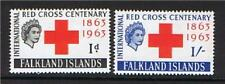 Falkland Is 1963 Red Cross SG212/3 MNH