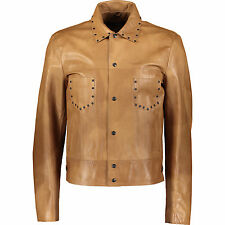 50% OFF JOHN RICHMOND Studded Leather Jacket IT50 L Regular fit Made in Italy
