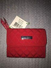 Vera Bradley Euro Wallet Tango Red NWT Free Shipping