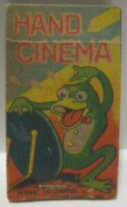 Old Pre War Japan Paper Toy Hand Cinema Flip Book - Frog Cover
