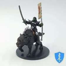 Orc Rider on Dire Wolf - Rusty Dragon Inn #44 Pathfinder Battles D&D Rare Mini
