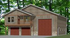 44x48 Apartment with 2-Car 1-RV Garage - PDF FloorPlan - 1,645 sqft - Model 5O