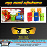 Small 5cm Ninjago Eyes Vinyl Stickers for Cups Lolly Loot Bags Party - Lego