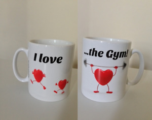 Gym Gift Mug - I Love ...the Gym! Birthday, Christmas Gift Ideas. Funny Mugs