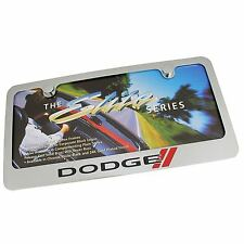 Dodge New Logo Chrome Brass License Plate Frame