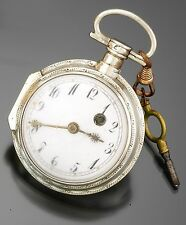 Swiss Unsigned .800 Silver Keywind Verge Fusee Pocket Watch CA1800s