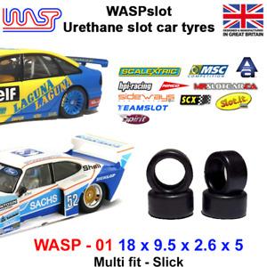 WASP 01 - Urethane Slot Car Tyres - Ninco, SCX, MSC, Autoart, Spirit & Teamslot