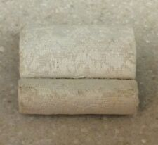 Dollhouse Miniature Bespaq Ivory Upholstered & Wood Foot Stool
