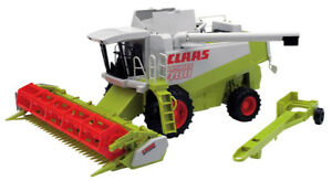 BRU2120 - Claas Lexion 480 With Trolley Tansport of The BAR Of Coupe Toy B