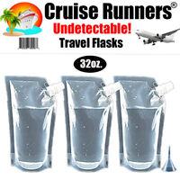 Cruise Flask Kit Rum Runners Alcohol Liquor Smuggle Sneak Booze Wine Plastic Bag