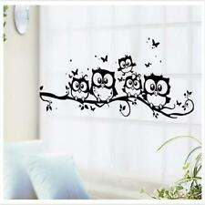 Removable Room Decor Artistic Decal Owl Cartoon Kids Wall Sticker DB