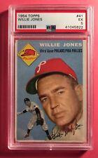 1954 Topps #41 Willie Jones Phillies PSA 5 EX vibrant color very sharp