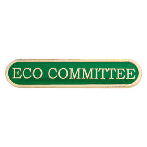 Eco Committee Bar Enamel Badges - Free Delivery