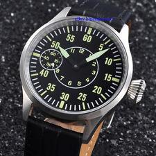 Parnis 44mm Sapphire Glass Men's Hand Winding 6497 Movement Watch Luminous Dial
