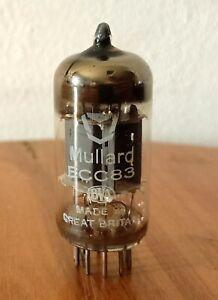 ECC83 Mullard tube,Röhre tested Neu,NOS 1,4-1,6mA