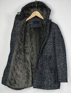 TRUSSARDI PARKA ARENZANO-18AI Men (EU) 46 or ~S-M Pile Fleece Lined Coat 30984-S
