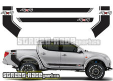 Mitsubishi L200 027 side racing stripes stickers decals graphics rear tub side
