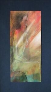 Sitzende Frau, Object-Malerei, Original, Unikat, signiert Ludmila Eberlein, Bild