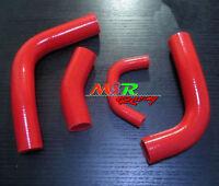 RED Silicone Radiator Hose kit for Toyota Landcruiser Land cruiser 80 SERIES 3F