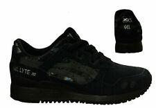 Asics Gel-Lyte III Lace Up Womens Trainers Running Black HN6K5 9090 B33B