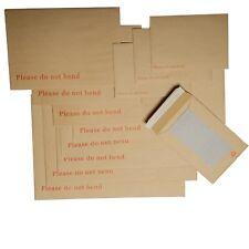 Board Backed Envelopes Cardboard Back Rigid Card Peel & Seal Do Not Bend Manilla