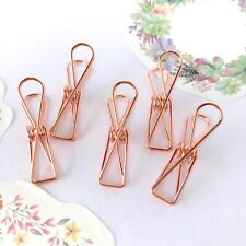 Planner Clips Spring Paperclips Rose Gold Metallic Wire Binder Accessory 33mm