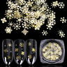 3D Snowflake Nail Sequins Gold Metal Slices Nail Art Glitter Winter Sticker