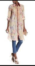 NWT ARATTA Christy Turlington Long Floral Tunic Top Shirt Dress XL