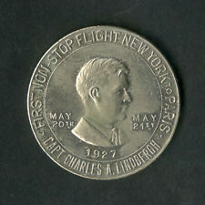 US Medal 1927 Lucky Lindbergh First Transatlantic Flight High Grade NO RESERVE!