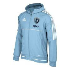 Sporting Kansas City MLS Adidas Men's Climalite Light Blue Hooded Travel Jacket