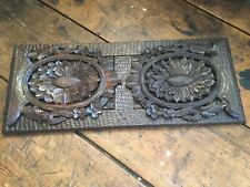 Antique Late 1800's Black Forest Carved Wood Expandable Sliding Book Holder