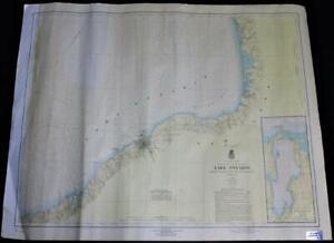 LAKE ONTARIO (EAST) NAUTICAL BOATING SURVEY MAP 1959 OSWEGO NEW YORK AREA