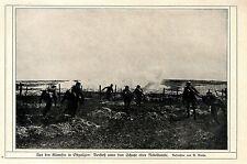 Ostgalizien: Sturm-Angriff unter dem Schutz einer Nebelbombe c.1917