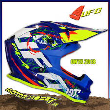 CASCO CROSS ENDURO MOTARD UFO ONYX CIRCUS 2018 TAGLIA XL  61-62 GIALLO BLU