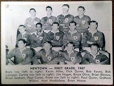 1967 DAILY MIRROR RUGBY LEAGUE TEAM PHOTO CARDS ~ NEWTOWN BLUE BAGS