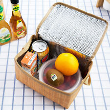 Portable insulated thermal cooler lunch box imitation rattan picnic container UQ