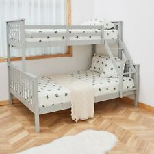 WestWood Bunk Bed Wooden Frame Children Kids Triple Sleeper No Mattress 3FT 4FT