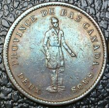 "CANADA TOKEN - 1837 ONE PENNY BANK TOKEN ""CITY BANK""-Strong Ground-Period- BR521"