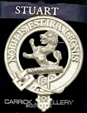 Stuart of Bute Scottish Clan Crest Badge Brooch Pin Style Pewter