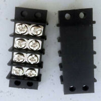 1pcs, Dual 4 Position 2 x 4 Points Strip Terminal Blocks barrier  30A 600V 57x21