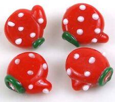 Lampwork Handmade Glass Lovely Glove Beads Christmas 14mm