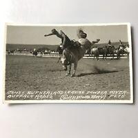RPPC Real Photo Postcard Ekc Rodeo James Sutherland Buffalo Rodeo