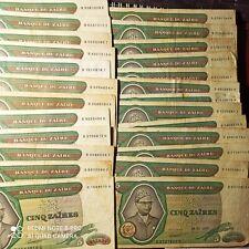 zaire congo 5 zaire banknote 27-10-1977 choose numbers
