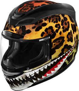 Icon Motosports Airmada SAUVETAGE Full-Face Helmet (Yellow) Choose Size