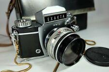Old Vintage EXAKTA VAREX  IIb 35mm SLR Film Camera. Zeiss Lens Read Please
