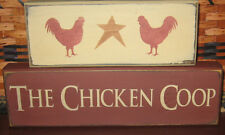 PRIMITIVE COUNTRY THE CHICKEN COOP  2PC block set