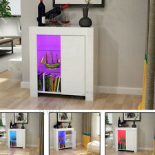 UK Stock Sideboard Buffet Storage Cabinet 12 Color LED Light Modern High Gloss