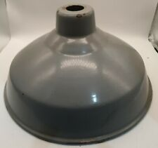 More details for vintage - enamel industrial - metal gray lampshade