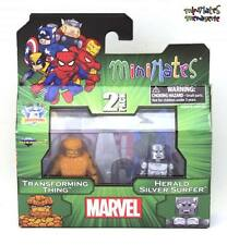 Marvel Minimates TRU Toys R Us Wave 15 Transforming Thing & Herald Silver Surfer