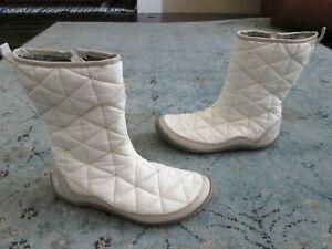 Columbia Women's Size 10 White Minx Slip On Omni Heat Insulated Zip Up Boot